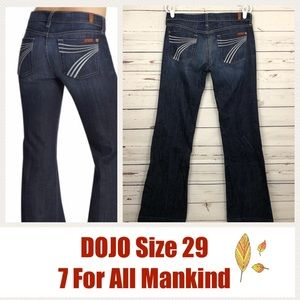 7 For All Mankind DOJO Jeans Trouser Flare 34 x 35
